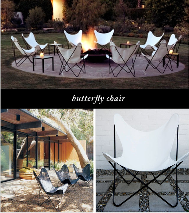 butterfly chairs with cloth cover and iron base