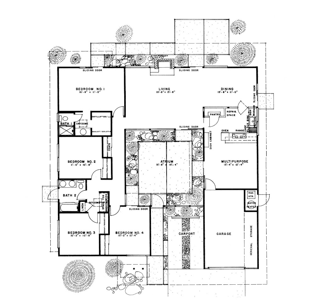 eichler house floorplan
