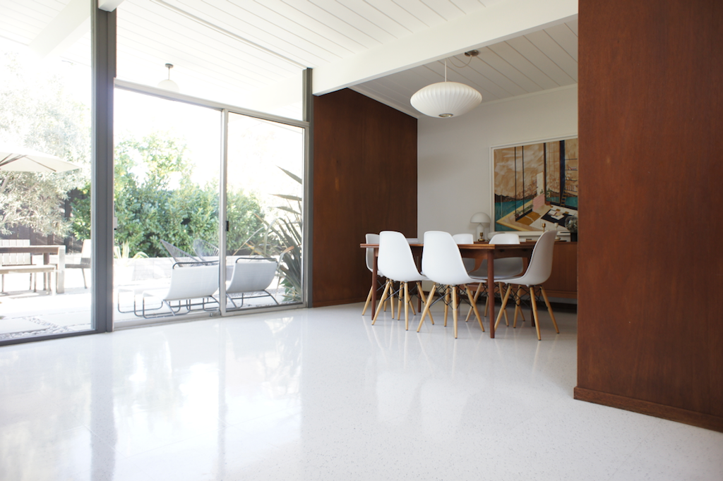 eichler flooring: solid vinyl tile - Dear House I Love You